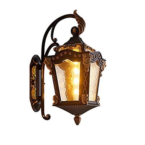Lámpara De Pared Al Aire Libre Lámpara De Jardín De Villa De Estilo Europeo Lámpara De Pared Exterior De Jardín Al Aire Libre Led Lámpara De Poste De Puerta Impermeable Jardín del Hogar