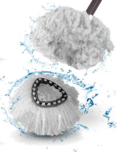 goodspot® 2er Set Wischmopp Ersatzkopf - für vileda Wischmopp Ersatzkopf EasyWring & Clean - extra-Dicke Fasern ohne Ausfransen - für vileda Easy Wring Ersatzkopf - langlebig und perfekte Passform