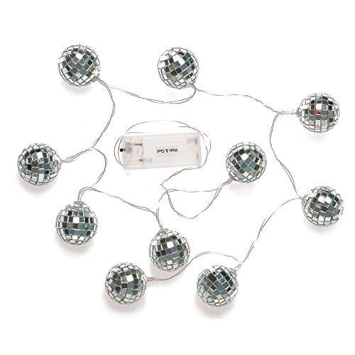 HAB & GUT LED Lichterkette LED017- Discokugel 10 Leuchten, batteriebetrieb 2X AA warm Weiss