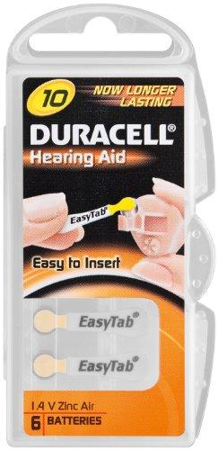 Duracell pile bouton auditive cellules/zinc-air-v10