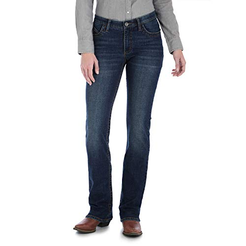 Wrangler Women's Willow Mid Rise Boot Cut Ultimate Riding Jean, Lovette, 19W x 34L