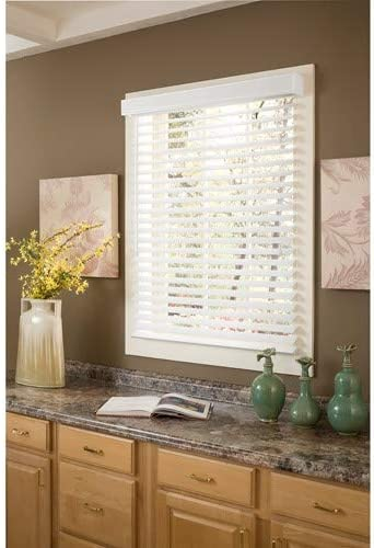 """new arrival 2"""" outlet sale Faux Wood Blind Width: 27"""" W, Height: sale 48"""" H online sale"""