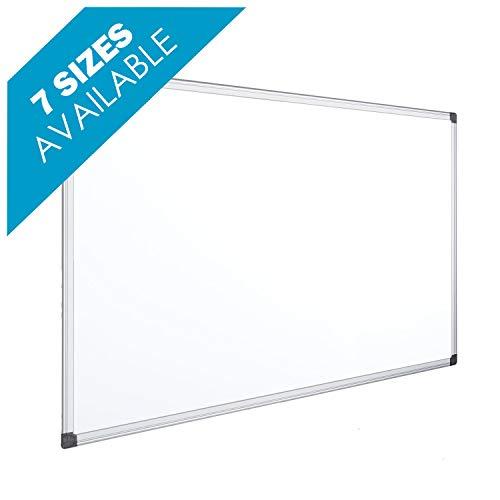 OFITURIA® Pizarra Blanca Magnética Lacada Con Marco De Aluminio Resistente Fácil De Borrar En Seco, Medida 120x90 cm