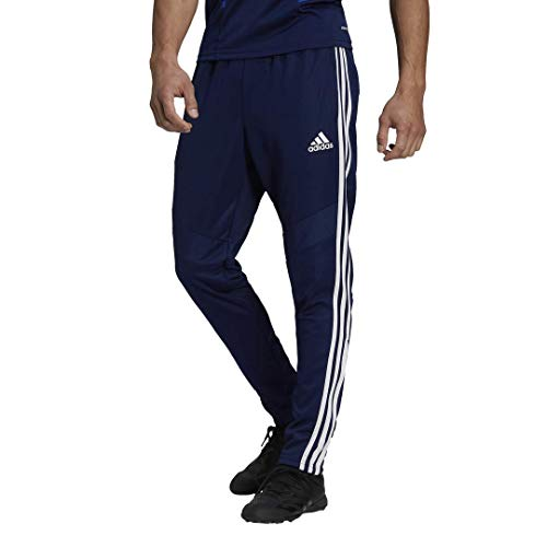 Adidas Pantalón Tiro 19 Hombre, Tiro 19 Pantalones, Azul Oscuro/Blanco, Mediano