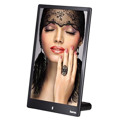 Hama Digitaler Bilderrahmen Slim im Hochformat (ideal für Portäts, 20,32 cm (8 Zoll), SD/SDHC/MMC-Kartenslot) schwarz