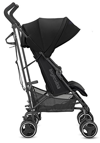 Image of Inglesina Net Stroller - Lightweight Summer Travel Stroller - UPF 50+ Protection Canopy with Removable and Washable Seat Pad {Black}