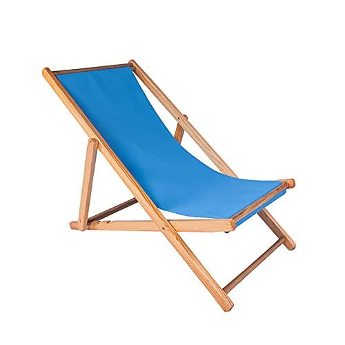 JUNKUN Sedie da Spiaggia|Sedia da Spiaggia Pieghevole in Legno|Sedie a Sdraio da Spiaggia Pieghevoli Leggere Dotate di Una Struttura in Legno massello e sedie a Sdraio in Tela di Poliestere
