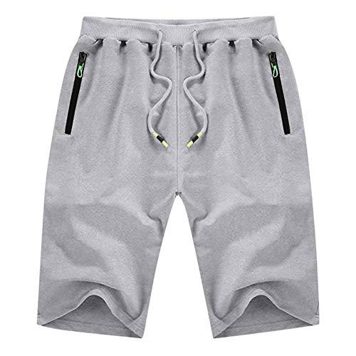 BUZHIDAO Kurze Hose Herren Sport Shorts Atmungsaktiv Bequeme Sweatshorts Jogginghose Laufshorts Fitnesshose Laufshorts