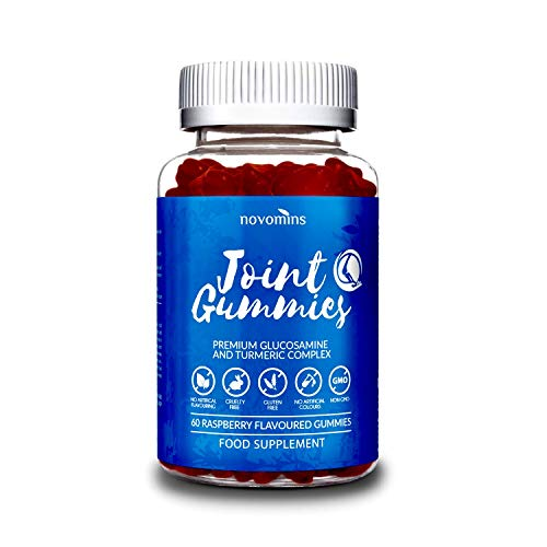 Joint Gummies - Glucosamine and Turmeric Supplements - Alternative to Glucosamine Tablets Turmeric Tablets or Turmeric Capsules and Glucosamine Capsules- Tumeric Supplements - Made in UK by Novomins