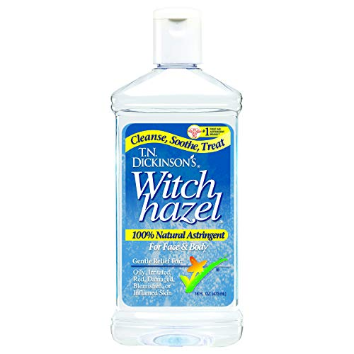 T.N. Dickinson's Witch Hazel Astringent for Face and Body, 100% Natural, 6 Count