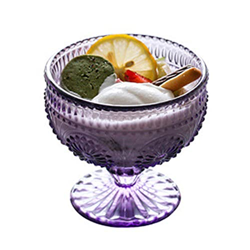Conjuntos de cuencos de vidrio, mini tazones de helados Copa de yogurt, taza de vidrio de flores de sol Especialidad y novedad PANTENERAS DE PANTALLA purple