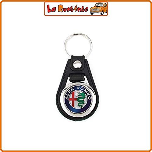 De fiets 1 sleutelhanger Alfa Romeo (Tam en chroomstaal) Giulietta Giulia Stelvio 159