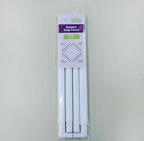 Bastidor de plástico desmontable cuadrado para bordado, punto de cruz o acolchado