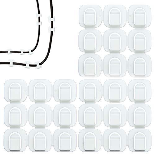 Selbstklebend Kabelschellen, Zoiibuy 27 Stück Kabelhalter Kabelclip für Haus, Büro, Auto und PC,Anbringen an Wand oder Schreibtisch für Kabelführung