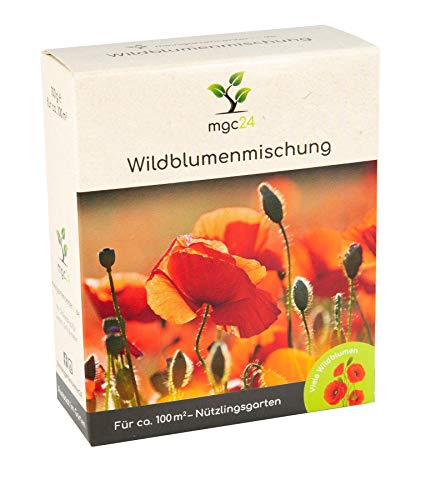 mgc24® Wildblumenmischung - Blumenmischung für nützliche Insekten ein- & mehrjährig 100g für 100m²