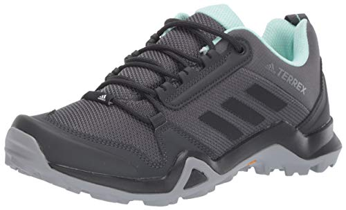 adidas outdoor Terrex AX3 Hiking Shoe - Women's Grey Five/Black/Clear Mint, 8.5