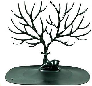 Joyero ciervo con forma de árbol Negro - Organizador de joyas