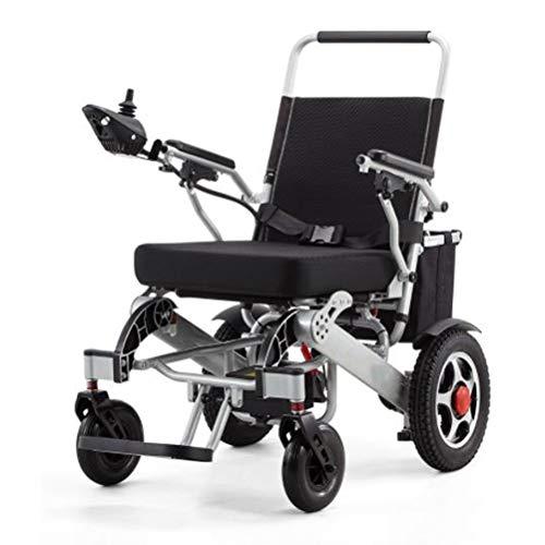 SPAQG opvouwbaar transport rolstoel, handmatige en elektrische twee modi, transport rolstoel met rek, geschikt voor benen en voeten, kan niet zorgen voor extra comfort en ondersteuning