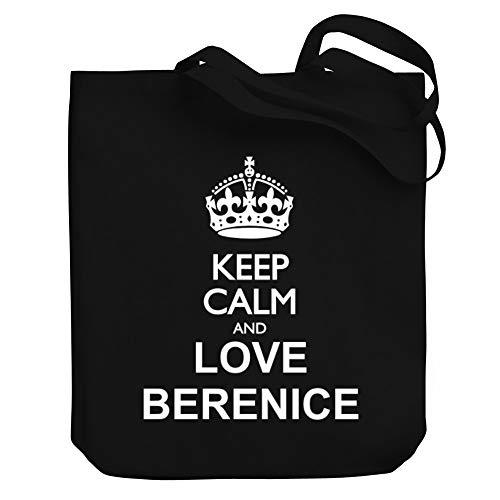 Teeburon Keep Calm and Love Berenice Bolsa de Lona 10.5' x 16' x 4'