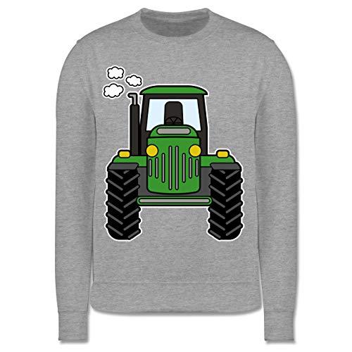 Fahrzeuge Kind - Traktor Front - 104 (3/4 Jahre) - Grau meliert - Kinder-Shirts Traktor - JH030K - Kinder Pullover