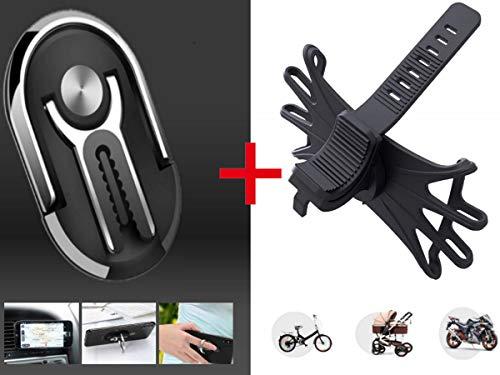 Wasila 360° drehbare | Universal | Auto | Ring | Handyhalterung | inkl. 1x Gratis Fahrrad - Motorrad - Kinderwagenhalterung - etc.| Keine Kratzer !