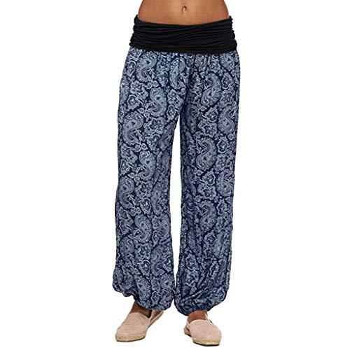 Große Größen Damen Hosen Lang Pumphose Haremshose Sommerhose Aladin Pants Yoga Stretch Hose Yogahose Aladinhose Baggy Harem Stil mit Elastischen Bund Sonojie