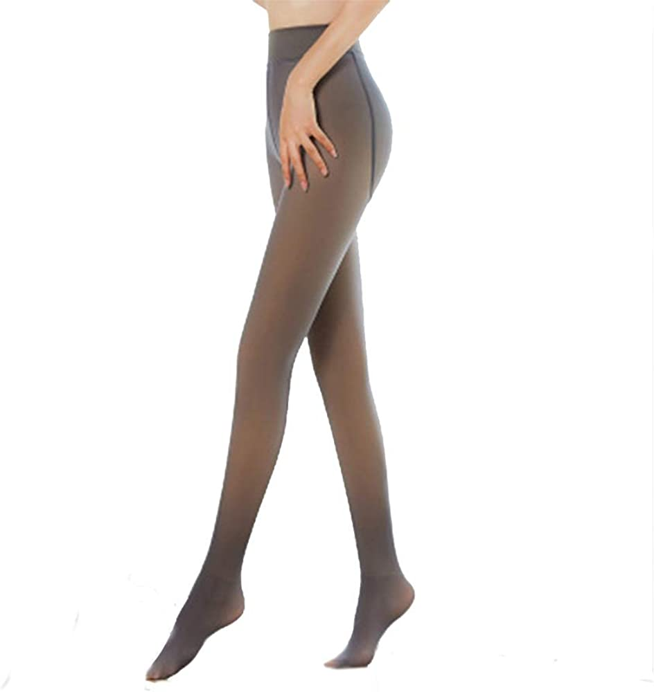 Warm Fleece Lined Pantyhose,Opaque Matte Thick Footed Stretch Microfiber Pantyhose Tights for Women