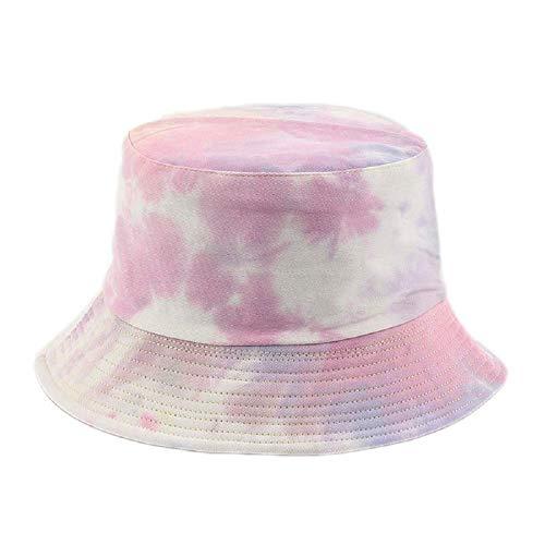 shenguang Bucket Hat Unisex Algodón Reversible Impreso Sombrero para el Sol al Aire Libre para Mujer