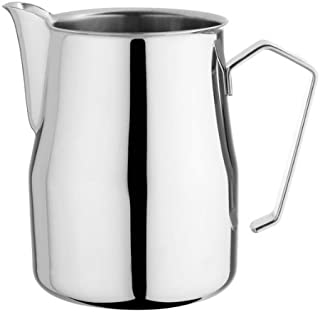 Motta Stainless Steel Frothing Pitcher with Europa Rounded Spout, 8.5 oz.