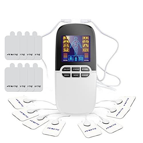 Tens electroestimulador Mini TENSO Máquina de por vida de la unidad de masajeador para el manejo del dolor de la espalda libre de drogas y la terapia de rehabilitación para el analgésico digital