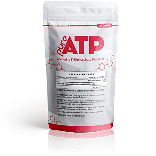 BulkStimulants.com - Pure ATP: Adenosine Triphosphate Powder | Intracellular Energy | Brain and Muscle Endurance | 20 Grams