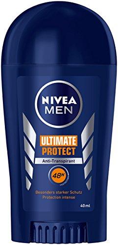 Nivea Men Ultimate Protect Deodorant Stift, verpakt per 1 stuks (1 x 40 ml), anti-transpirant stick met bijzonder sterke bescherming, deodorant met 48 uur bescherming
