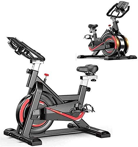 ZJDM Bicicleta estática de Ciclismo para Interiores, Bicicleta de Ciclismo para Fitness, Volante avanzado, Resistencia magnética, con asa de Asiento Ajustable, Soporte para Tableta, Equipo Deport