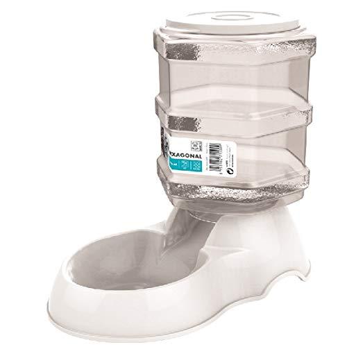 M-PETS Hexagonal Food Dispenser 3, 5l White pour Chien