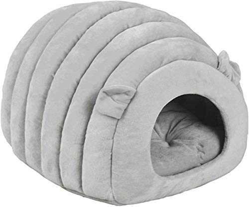 TETHYSUN Cama para mascotas Cama de gato, cama de hielo, cueva, saco de dormir para mascotas cálido cojín extraíble interior nido cama gato cachorro