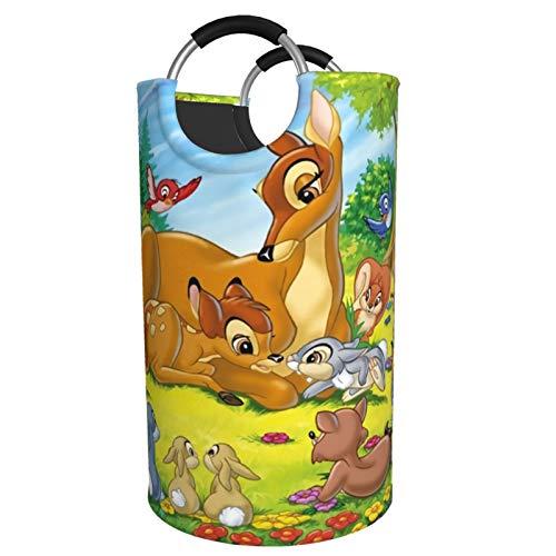 Bambi - Cesta para ropa sucia, impermeable, con asa para dormitorio, armario, 82 L, para hombre y mujer