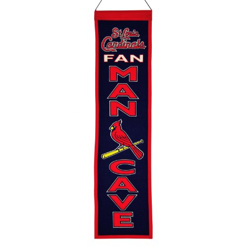 Winning Streak MLB Baseball St. Louis Cardinals Man Cave Wimpel Pennant Wool Blend Banner 80x20