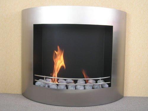 London Bio Ethanol Kamin Standkamin Gelkamin Silber Luxuskamin Tischkamin WandKamin Ofen Cottage Pillar Feuerstelle Feuersäule Feuerkorb Rauch- &...