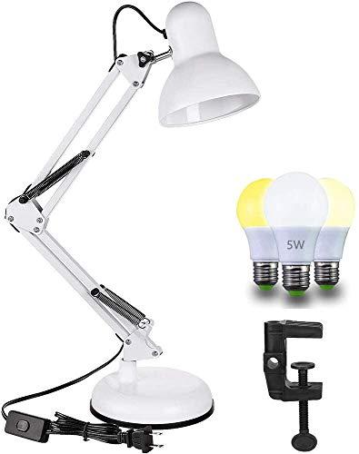 Lámpara de Escritorio LED Articulable, Casquillo E27, Luz M