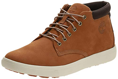 Timberland Ashwood Park Leather, Stivali Chukka Uomo, Giallo (Wheat Nubuck), 42 EU