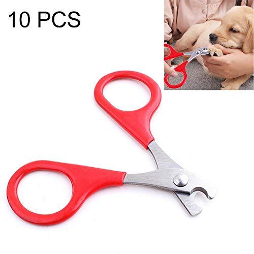 Haustier Pet Nagelknipser for Hunde & Katzen Set von 10, Proffesional Schere for Katzen, Hunde, Welpen, Kätzchen, Hamster, Kaninchen und Kleintiere