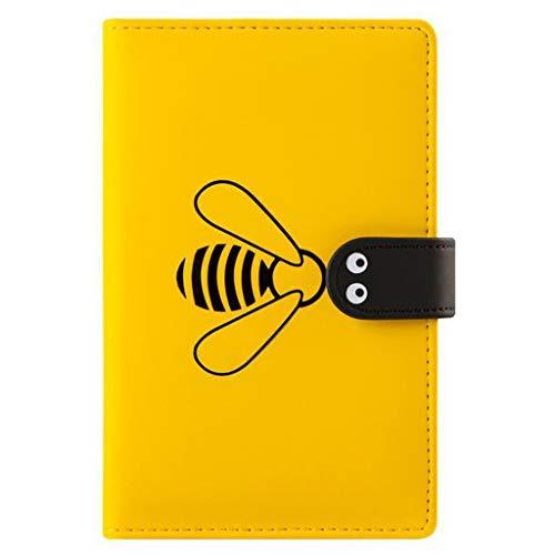 XuHang - Cuaderno de diario de diseño de abejas (A6, anual mensual, semanal, de viaje, 256 páginas)