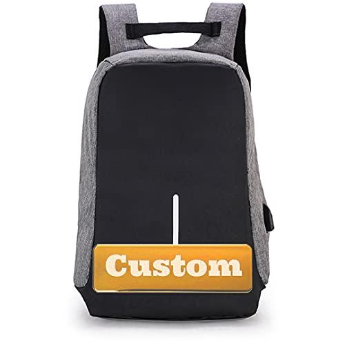 INGKDDL BAGNA Personalizzato per BAGNA Personalizzato Bag Bag Bag Bag 15.6 Pollici Porta USB Portatile da 15.6 Pollici (Color : Grey, Size : One Size)