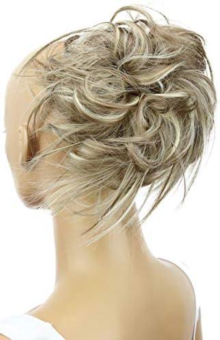 PRETTYSHOP Hairpiece Hair Rubber Scrunchie Scrunchy Updos VOLUMINOUS Wavy Messy Bun dirty blonde product image