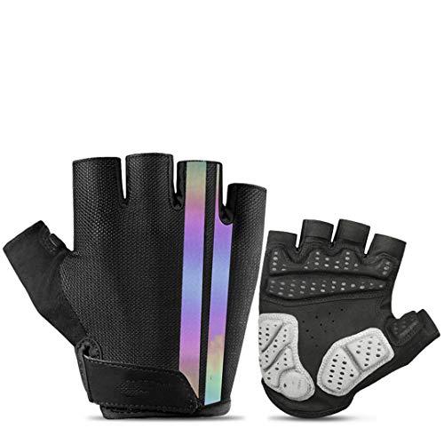 BSDASH Cycling Mountain Bike Gloves Gel Pad Shock-Absorbing Anti- Slip Racing Breathable MTB Road Bicycle Gloves 519-Colourful XXL