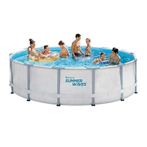 14ft Elite Frame Pool with Filter Pump, Cover, and Ladder -  PolyGroup