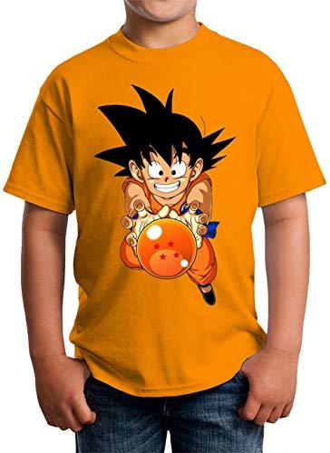 Goku Four Dragon Ball Camiseta Unisex para niños 5-13 años Blanco X-Large