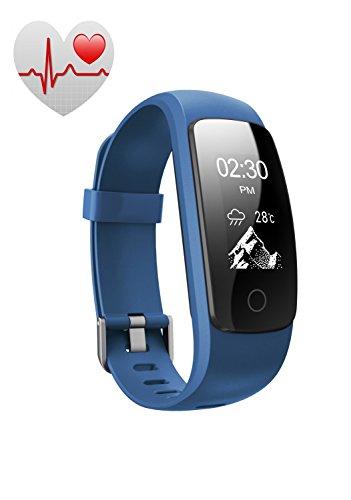 Funker Pulsera Actividad Pulsómetro Impermeable(IP67) FP5 Pulse Fitness.Pulsera Inteligente con Ritmo Cardíaco,Actividad,Pasos,Distancia,Calorías y Sueño.Compatible con iOS y AndroidAzul