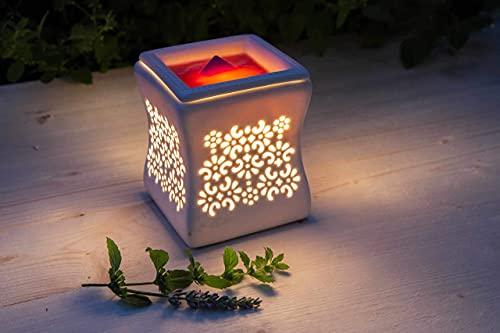 Candle-Lite elektrische Duftlampe Nata stilvoll und flammenlos im schönen Keramik Design für dein Zuhause, 25W Glühlampe mit abnehmbarer Schale, Duftampe für das Büro, Wohnzimmer, Schlafzimmer