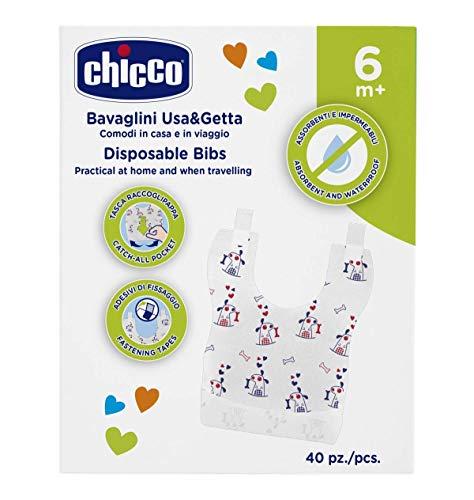 Chicco Bavaglini Monouso 6m+ , un pacco con 40 pezzi